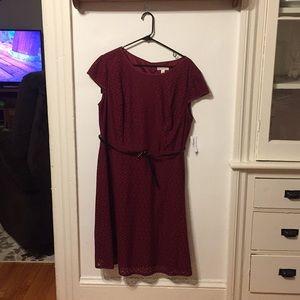 16W Burgundy Dress NWT